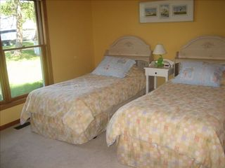 Lake Leelanau house photo - Bedroom with Twin Beds