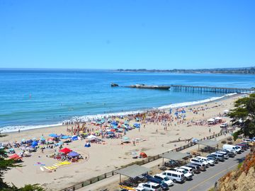 Aptos house rental - Rio Del Mar/Seacliff State Beach looking towards Capitola and Cement Ship