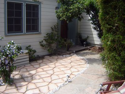 Front patio and path to front door
