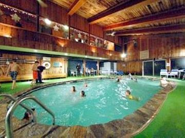 This is the indoor pool at the Chimney Hill Clubhouse. A 5 min. walk away