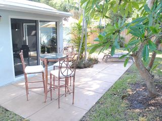 Deerfield Beach house photo - BACK PATIO CAFE TABLE