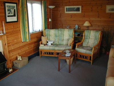 New Forest cabin rental - Lounge