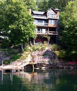 860 Island Drive, view from Lake Santeetlah