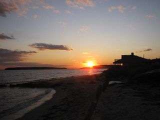 Mayo Beach sunset 11/09 - Wellfleet cottage vacation rental photo