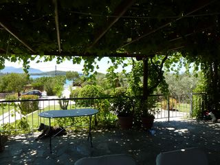 Evia cottage photo - the main veranda, a relaxing place with shadow