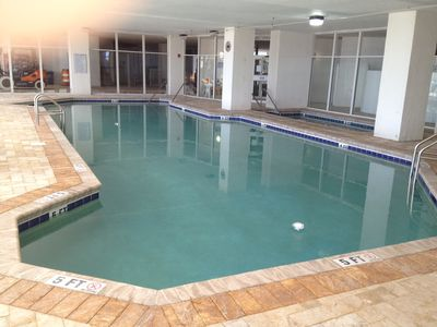 North Tower Indoor Pool with the new tile