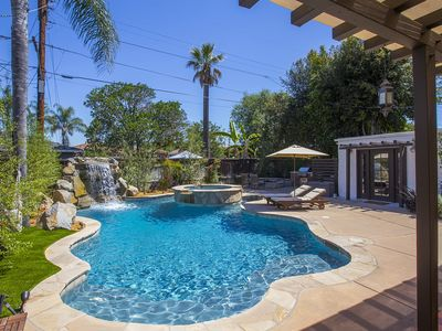 Spanish Charm With Dream Backyard - Pool, Waterfall, Fire Pit, BBQ And More