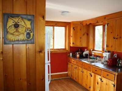 Winhall chalet rental - Country kitchen