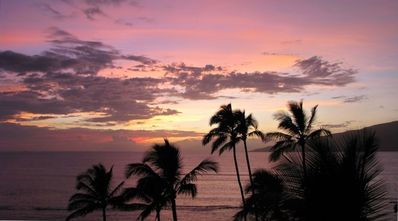 Magical and romantic sunsets every evening from our Lanai