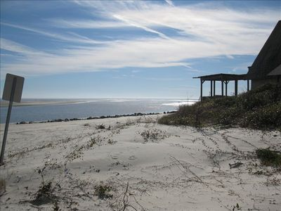 The beach is less than 100 steps from your back door !