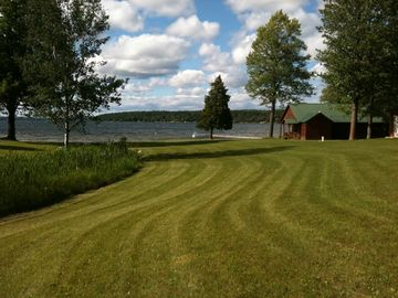 Mullett Lake cottage rental - View of property from the woods