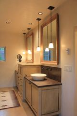 Santa Fe house photo - Newly added Master Bathroom with open glass shower and lovely tub!