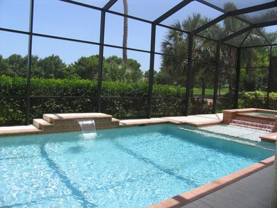 Golf Front, Outdoor Kitchen, 8 Bikes, Heated Pool, Spa, Tennis, Pool Table, Gym