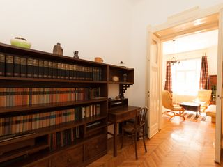 Budapest apartment photo - Foyer and library leading into living room