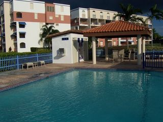 Cabo Rojo apartment photo - Pool view and building 'IV' behind it.
