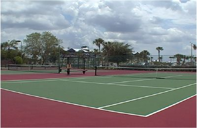 Tampa townhome rental - 1 of 4 community tennis courts, free to use for our guests