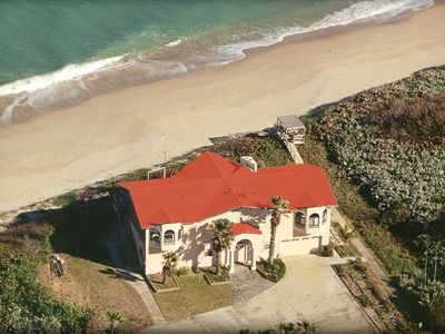 Melbourne Beach House from the Air Looking Towards The Atlantic Ocean