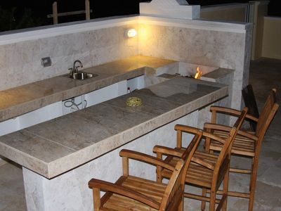 Outdoor Wet Bar and Anguilla Stone Grill