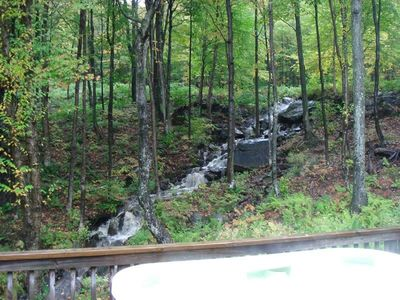 Killington house rental - Waterfall right behind the house