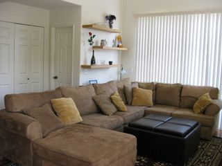 Large sectional couch with ample seating - Pacific Beach townhome vacation rental photo