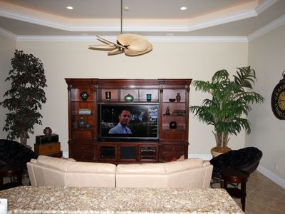 "Family room with 70"" hd tv"