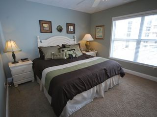 New Smyrna Beach condo photo - King size bed in the master bedroom
