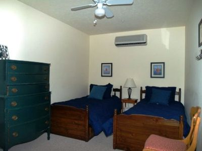 2nd Bedroom w/ Two Twin Beds, Ceiling Fan and Large Dresser