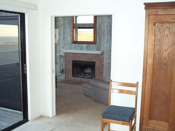 Pajaro Dunes condo rental - From the master, the fireplace and the mirror reflecting the east view & sunrise