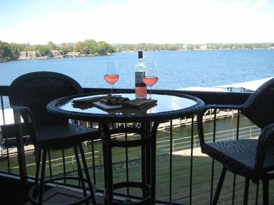Hot Springs condo rental - Enjoy your favorite evening drinks on the balcony.