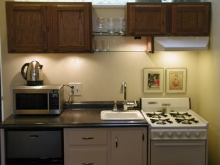 Brooklyn apartment photo - Kitchen is fully equipped with fridge/freezer, four-burner stove and more