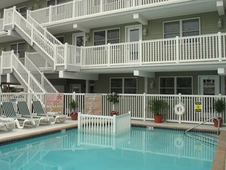 Wildwood Crest condo photo - The pool is right outside your door!