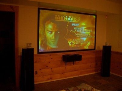 Multimedia room with 108' screen, dvd and xbox360
