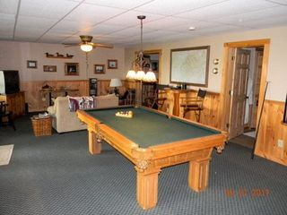Morganton cabin photo - Lower level, pool table.