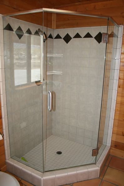 Bathroom shower.
