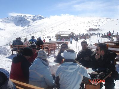 Lunch at the top of the gondola