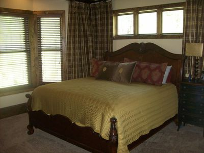 Master Bedroom EnSuite with a great view of the river and large screen HDTV