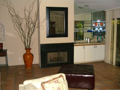 Gas Fireplace and Wet Bar