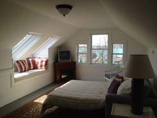 Middletown house photo - Third floor studio with queen sofa bed overlooking beach.