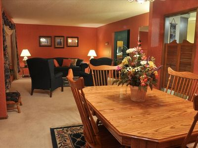 Loveland house rental - The large, open living / dining area makes a wonderful family gathering place.