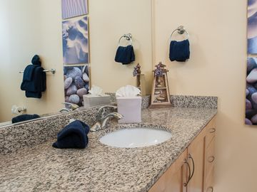 Beautiful Decor Graces this Master Bathroom