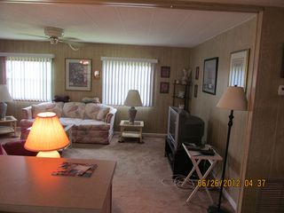 New Port Richey mobile home photo - Living Room View from Kitchen