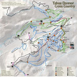 Cross country skiing at Tahoe Donner named Best in Tahoe with extensive trails