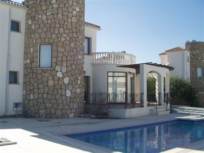 Esentepe villa rental - pool and terrace area