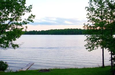 View of the lake from the front yard