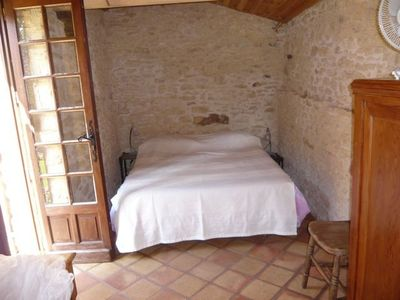 St Chamassy farmhouse rental - Small outer bedroom: double bed