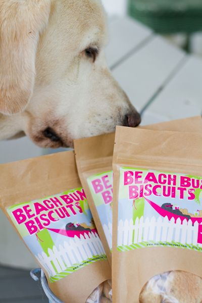 Complimentary Beach Bum Dog Biscuits! Visit Seaside Sisters to take some home!