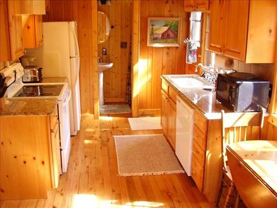 All Pine kitchen with new appliances and Mountain Views!