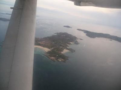 Isla Contadora, Panama - aerial view from airplane