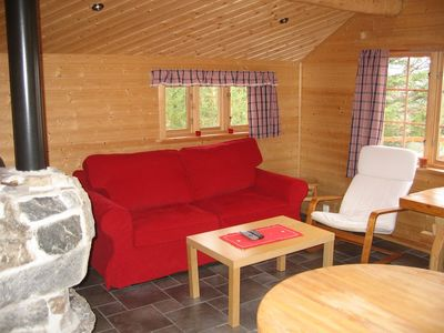 Wooden cabin interior