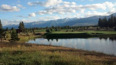 View of golf course and Whitefish Range from house
